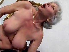 granny Norma fucks young chap