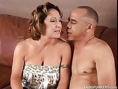 Lovely granny loves to fuck and eat cum