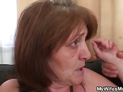 Slut rides young horseshit and his wife comes all over