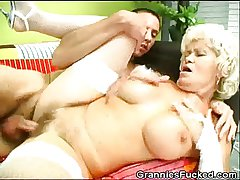 Granny Gets Fucked Increased by Gets A Mouthful Be worthwhile for Jizz