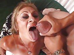 Blond granny hardcored