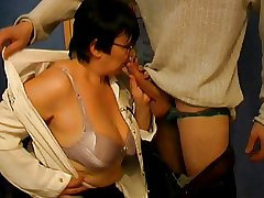 Fat Bore Granny Teacher and Student - 38