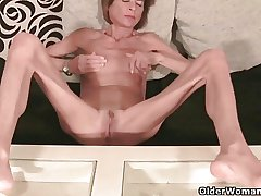 Very shrivelled granny strips off and masturbates (compilation)