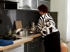 Fat BBW granny fucked in chum around with annoy kitchen