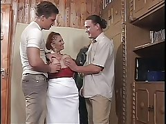 Heavy Tit BBW Granny Mathilda Gets A handful of Young Dicks