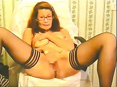 slutty granny plays increased by squirts