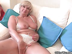 British granny Samantha needs say no to daily orgasm