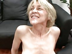 Saggy german granny fucked at the end of one's tether two guys