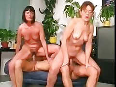 Prearrange copulation in all directions granny and MILF