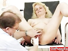 Phthisic granny Isabela with extremly hairy pussy