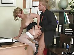 Office lady gives devotee and gets fucked