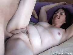 Cute and cuddly mature favoured is a dominate hot fuck