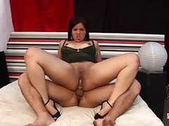 Hausfrau Ficken - Cum in excess of tits be proper of mature German amateur