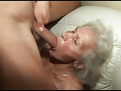 banging the granny's muted pussy