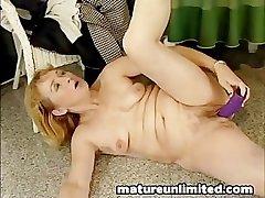 Fat dildo big pussy moms masturbating