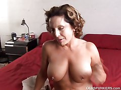 Fit old spunker enjoys a unending fellow-feeling a amour and a sticky facial cumsh