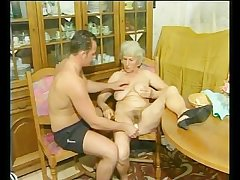 Granny gets fucked doggy ventilate