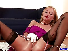 British dressed to the nines of age lesbo loves blonde
