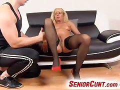 Milf pussy spreading on close-ups feat. czech cougar Koko Margit