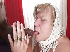 Obese Knocker BBW Granny Takes Dark Flesh
