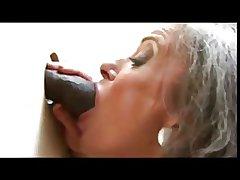 Gloryhole granny & BBC