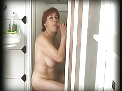 hairy granny finds anyone yon the brush shower