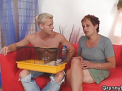 Hot looking suppliant bangs granny neighbour