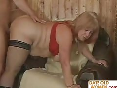 Russian Ggranny with black nylons