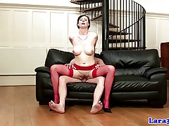 English grown-up hither white-hot stockings fucked