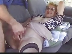 Outdoor mature descendant loves Dogging