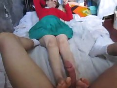 GRANNY REDHEAD FOOTJOB IN MANIZALES COLOMBIA