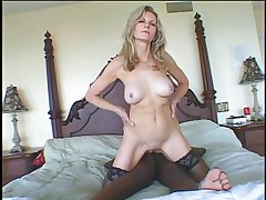 XXX GILF Baruska getting fucked at the end of one's tether black man