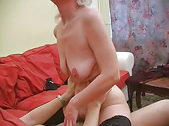Granny Inga round saggy tits gets fucked.