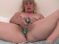 Grandma With Hard Nipples Finger Fucks Her Age-old Pussy