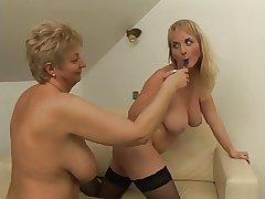 Cute Titties Lesbian Licks Granny Till She Orgasms