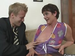 Their way hairy old cunt gets hammered wide of stiff cock
