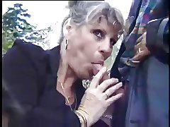 French Mature Danielle - Open air have sex