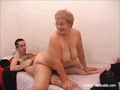 Granny give glasses Gets Fucked