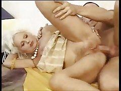 Blond prudish granny anal fuck