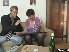 Her hairy old cunt gets drilled off out of one's mind stiff gumshoe