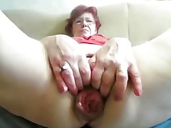55yr old Granny Fucks Fist Prolapse her Cunt and Ass beyond everything Cam