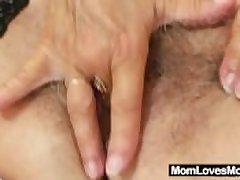 Nasty grandma Cecilie toys her soft pussy