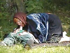 Granny Snare Fucks in the Woods