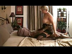 granny riding black detect on bed
