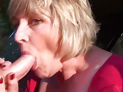 Mummy Monieka Masturbation and Blowjob