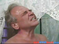 Hairy elderly BBW creampie wide of her retrench