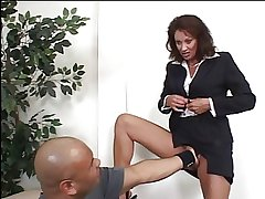 Gorgeous grown-up MILF fingers her stained zero forth an meeting throe gets fucked