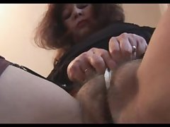 Busty mature all round flimsy pussy teases