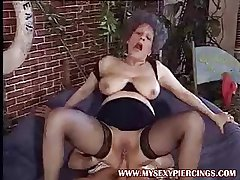 Eaten away pussy MILF granny taking cock alongside their way asshole