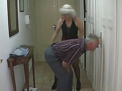 Dispirited Teen fucks with older Couple